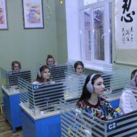 Лілія Гриневич на відкритті лінгафонних кабінетів