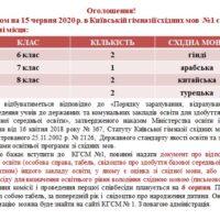 Оголошення щодо вільних місць в КГСМ №1